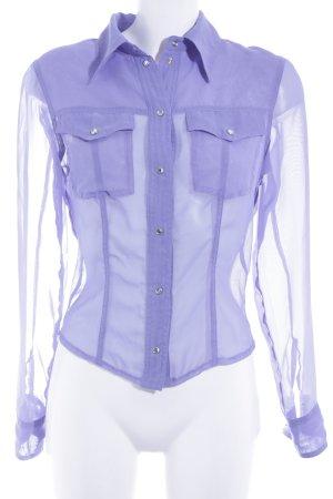 Bray Steve Alan Transparent Blouse blue violet elegant