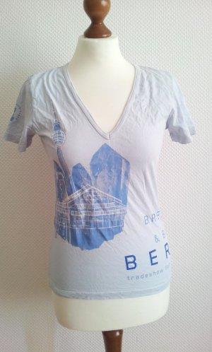 Bread&Butter Berlin T-Shirt in S (38), Hellblau, Print Berlin + Fernsehturm
