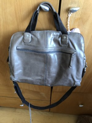 Bree College Bag grey brown