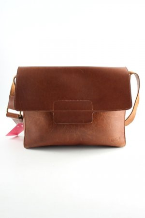 Bree College Bag cognac-coloured college style