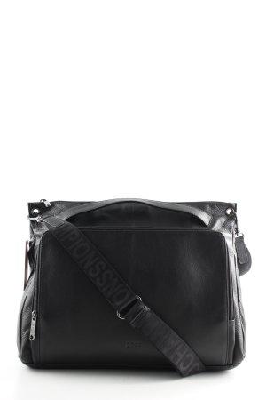 Bree Handbag black printed lettering casual look