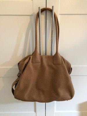 Bree Handtasche aus Leder, Cognac