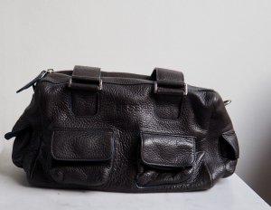 BREE Lederhandtasche Dunkelbraun