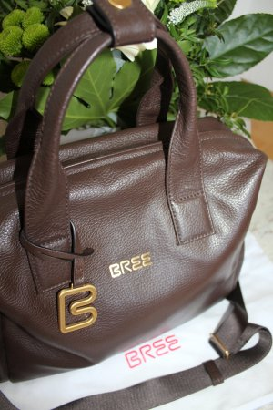 Bree Laptop bag grey brown leather