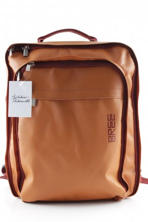 Bree Laptop Backpack light orange-russet retro look