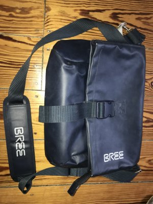 Bree Messengerbag dark blue polyester