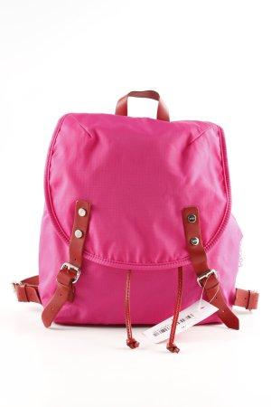 Bree Schoolrugzak roze-bruin casual uitstraling