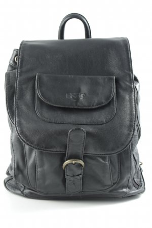 Bree School Backpack black casual look