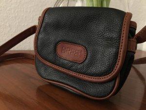 BREE Vintage Leder Umhängetasche Minitasche Schwarz Braun