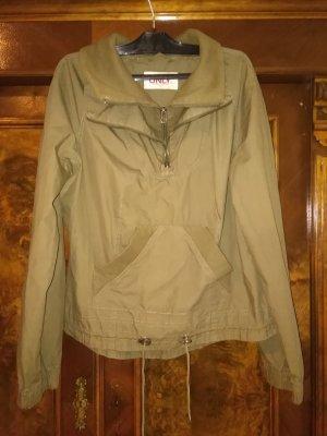 breite Parka Jacke in Farbe Khaki