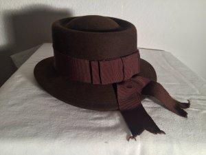 Cappello di lana marrone scuro Lana