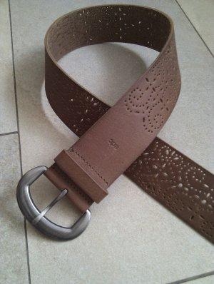 Esprit Cinturón de cadera marrón-color plata Cuero