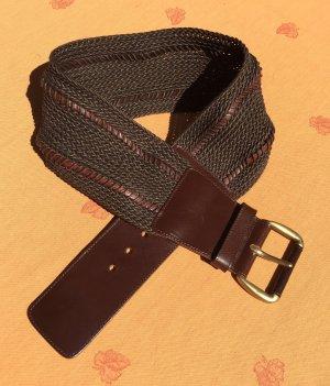 Ambiente Cintura di pelle marrone scuro-marrone Pelle