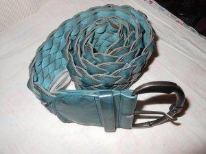 breiter rauchblauer geflochtener Gürtel von Accessoires