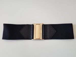 Waist Belt black-gold-colored synthetic fibre