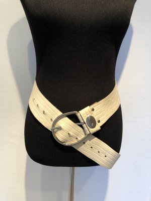 Vintage Leather Belt white-natural white