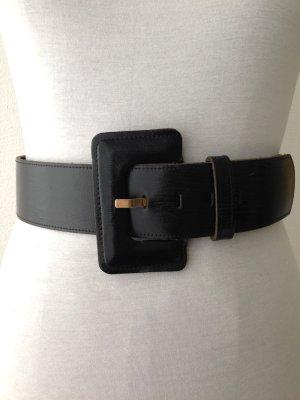 Breiter Vintage Taillengürtel aus echtem Leder, passt Gr. 38-42