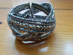 Armlet silver-colored-light grey