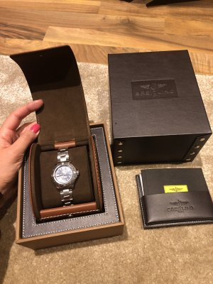 Breitling Self-Winding Watch silver-colored-dark blue