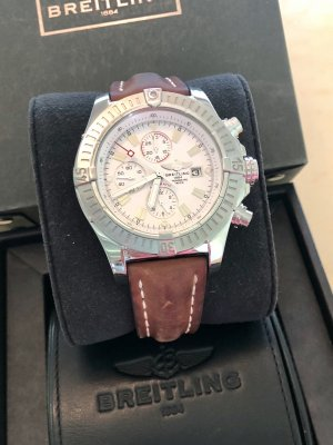 Breitling Self-Winding Watch silver-colored-brown
