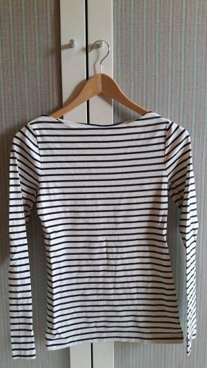 Bretonshirt mit Stretch Shirt Streifen talliert offwhite navy von Boden neu