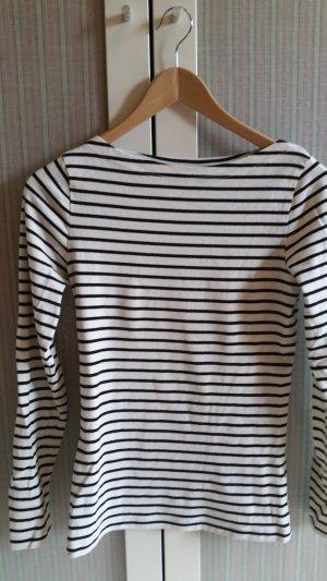 Bretonshirt mit Stretch talliert offwhite schwarz neu