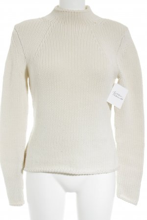 Breuninger Exquisit Strickpullover creme-wollweiß Zopfmuster Casual-Look