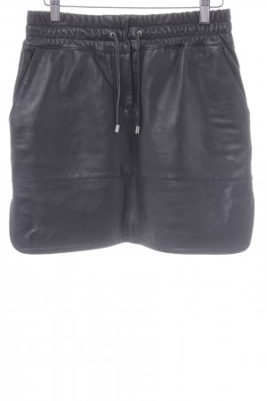 Breuninger Leather Skirt black casual look