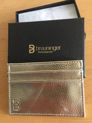 Breuninger neu Kreditkarten Etui in Gold