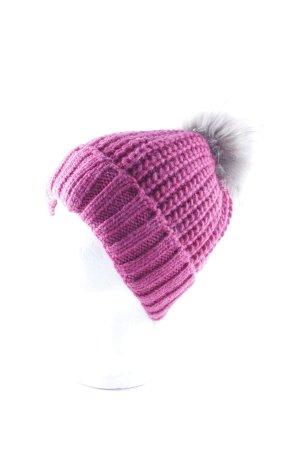 Breuninger Chapeau en tricot magenta style décontracté