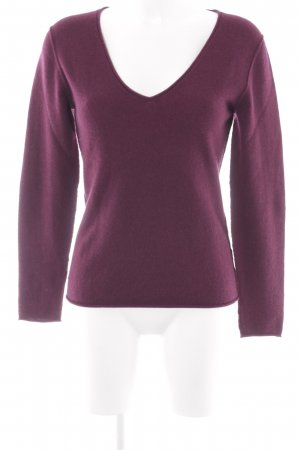 Breuninger V-Neck Sweater bordeaux-camel casual look