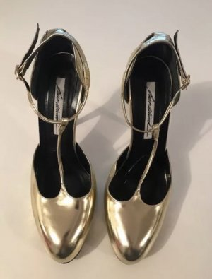 Brian Atwood Gold High Heels 37.5