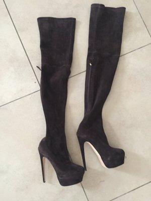 Brian Atwood Kniehoge laarzen zwart bruin
