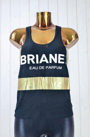 BRIAN LICHTENBERG Damen Top Schwarz Rayon Print Mod.Brianel Eau de Parfum Gr.S