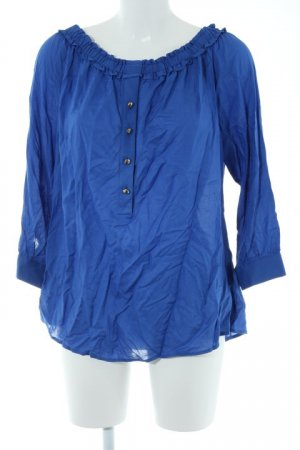 Brian Rennie Langarm-Bluse blau Casual-Look