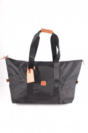 Bric's Weekender Bag black-cognac-coloured Brit look