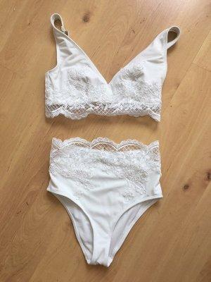 Asos Bikini wit Synthetische vezel