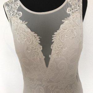 Bridal Standesamt oder Hochzeitskleid Schlicht Tiefer Ausschnitt Tüll