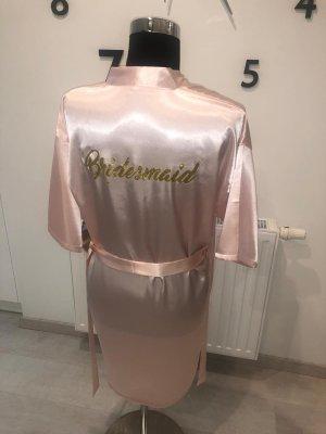 Abrigo corto rosa claro