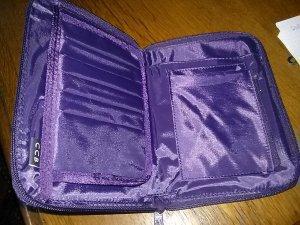 Portefeuille violet nylon