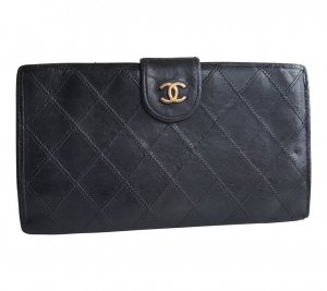 Chanel Portemonnee zwart-goud