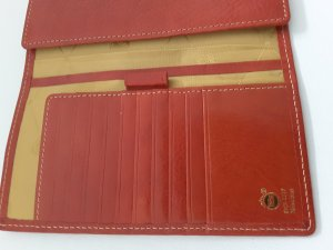 Wallet bright red leather