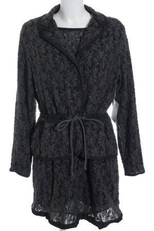 Brigitte Büge Kostüm schwarz abstraktes Muster Elegant