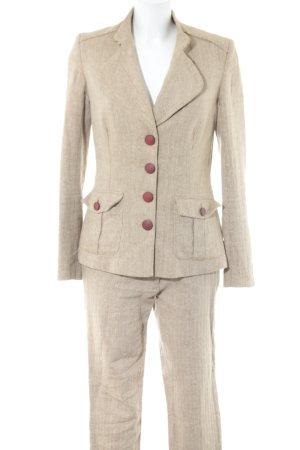 Brigitte von Boch Business-Anzug wollweiß-braun Allover-Druck Business-Look