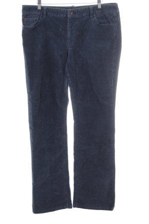 Brigitte von Boch Corduroy Trousers dark blue casual look