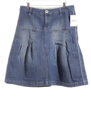 Brigitte von Boch Jeansrock blau Street-Fashion-Look
