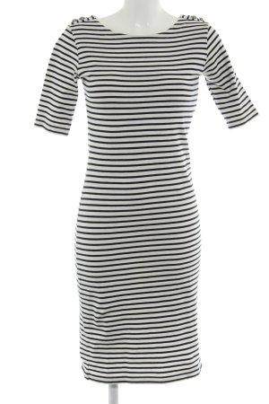 Brigitte von Boch Jerseykleid weiß-dunkelblau Casual-Look