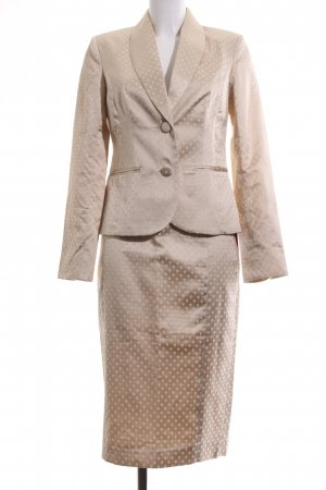 Brigitte von Boch Ladies' Suit nude-natural white allover print business style