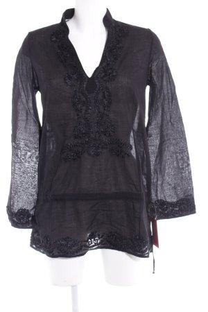 Brigitte von Boch Long-Bluse schwarz Elegant