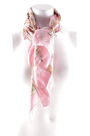Brigitte von Boch Bufanda de seda estampado con diseño abstracto look casual